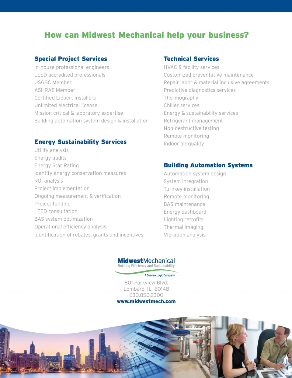 Midwest Mechanical Services Flyer Design and Printing