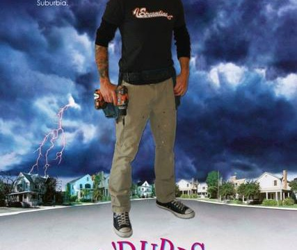 Contractor on cover of The Burbs movie poster for Facebook ad design