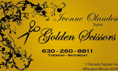 Metallic gold paper with black raised ink business cards