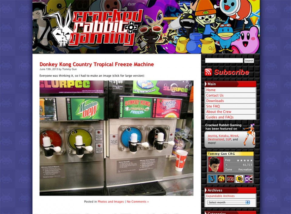 Screenshot of an affordable WordPress website design created for Cracked Rabbit