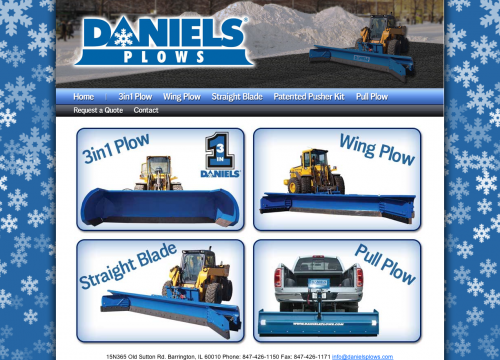 this is an example of Daniels Plow's PHP website design