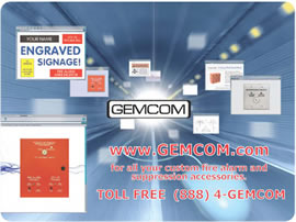 this is an example of Gemcom Incroporated's custom mouse pad