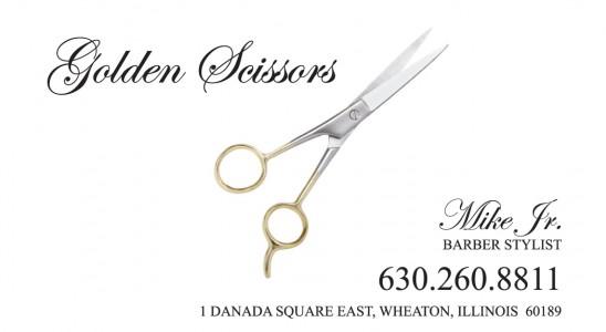 Golden Scissors Business Card Design