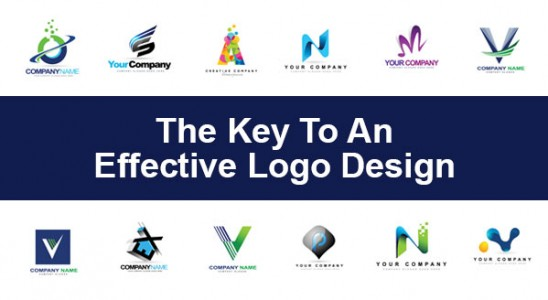 Collage of colorful logos with words The Key to An Effective Logo Design
