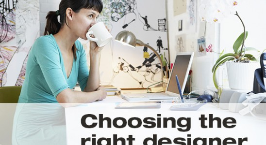 Woman drinking coffee wondering about choosing the right designer