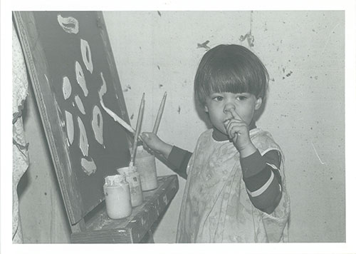 Picture of dream ink's owner as a child painting