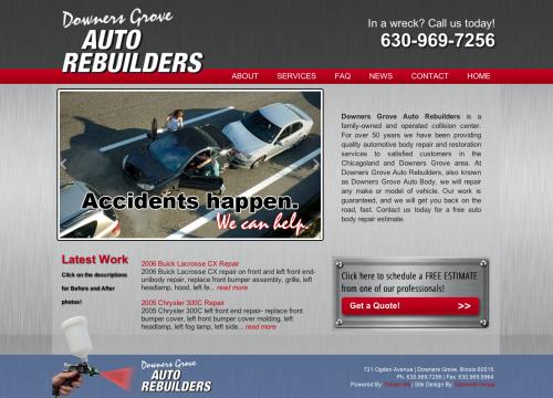 DG Auto home page image with car crash