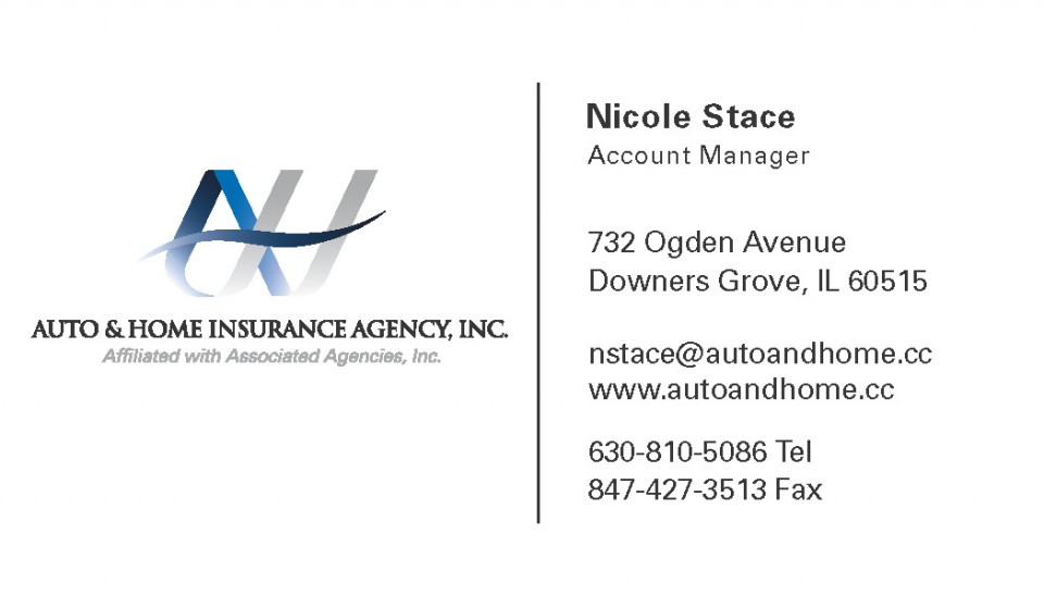 this is an example of Auto and Home's tri-tone business card