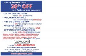 Gemcom Inc. Postcard Design - Back
