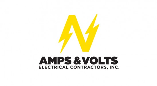 this is an example of Amps & Volts' business card