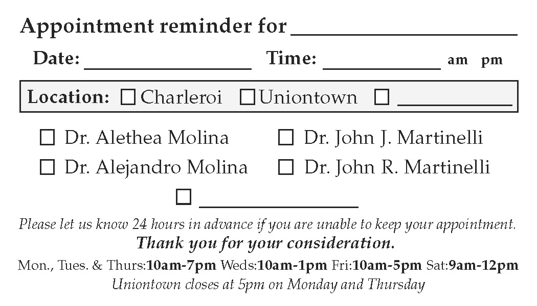 appointment cards - Appointment Cards