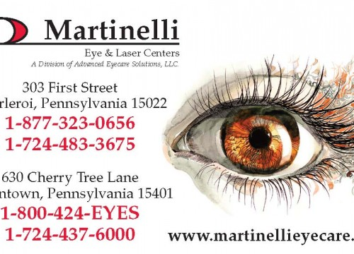 this is an example of Martinelli Eye and Laser's appointment card