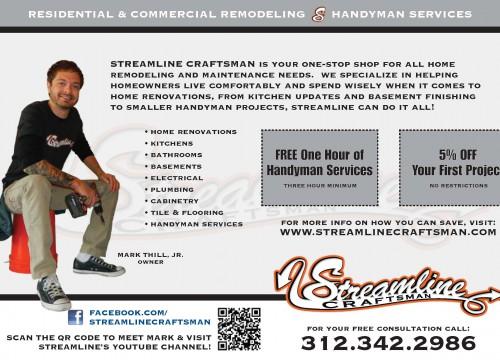 Streamline Craftsman EDDM Postcard - Back