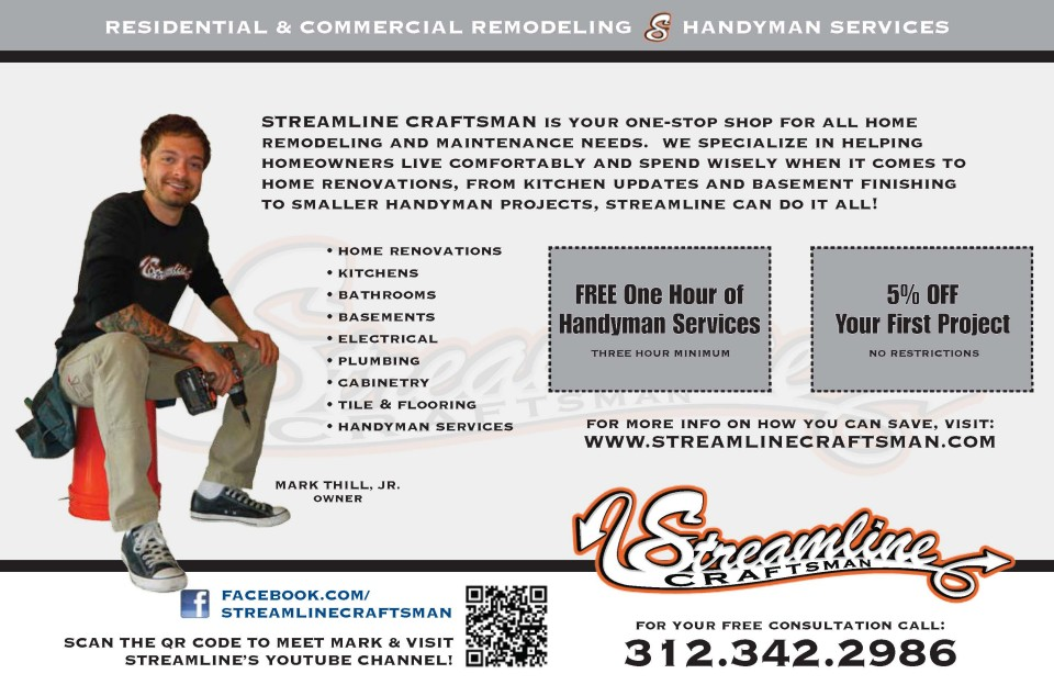 Streamline Craftsman EDDM Postcard - Back
