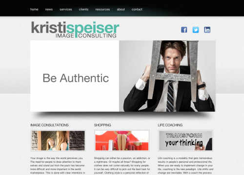 Homepage of Kristi Speiser's website for SEO services