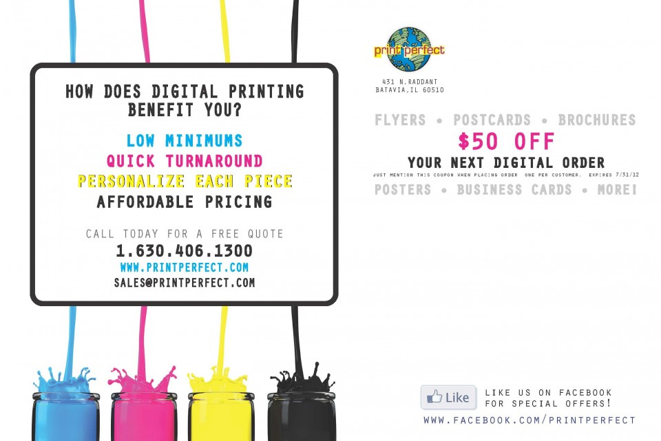 Splash Postcard Design and Printing - Back