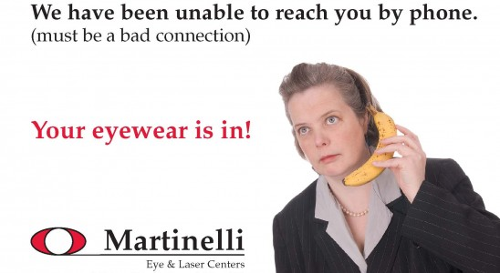 this is an example of Martinelli Eyecare's full color postcard design