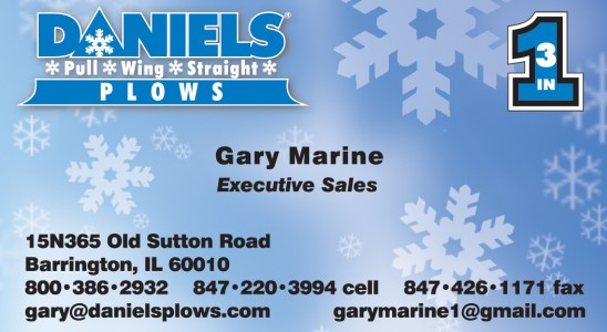 this is an example of Daniel's Plow's high quality business card