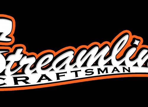 Streamline Craftsman's home remodeling logo design in black and orange