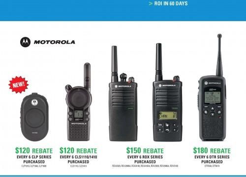 Motorola's full color flyer design