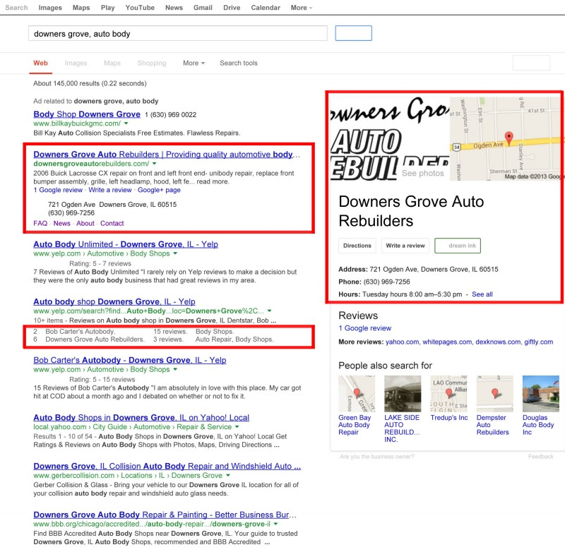 Search Engine Optimization For Downers Grove Auto Rebuilders
