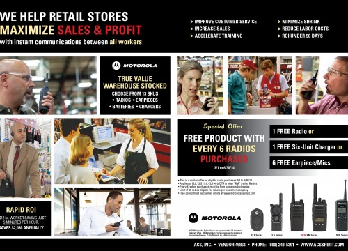 Motorola's magazine ad design published in trade magazine