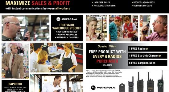 Motorola's magazine ad design published in trade magazine