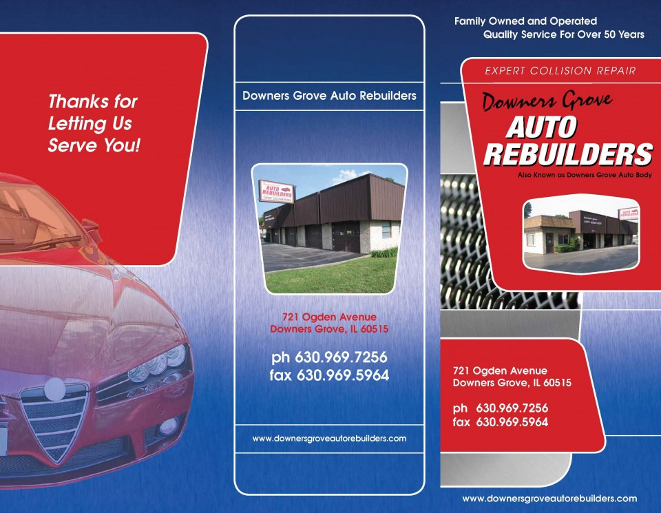 Tri-Fold Brochure Printing - Front