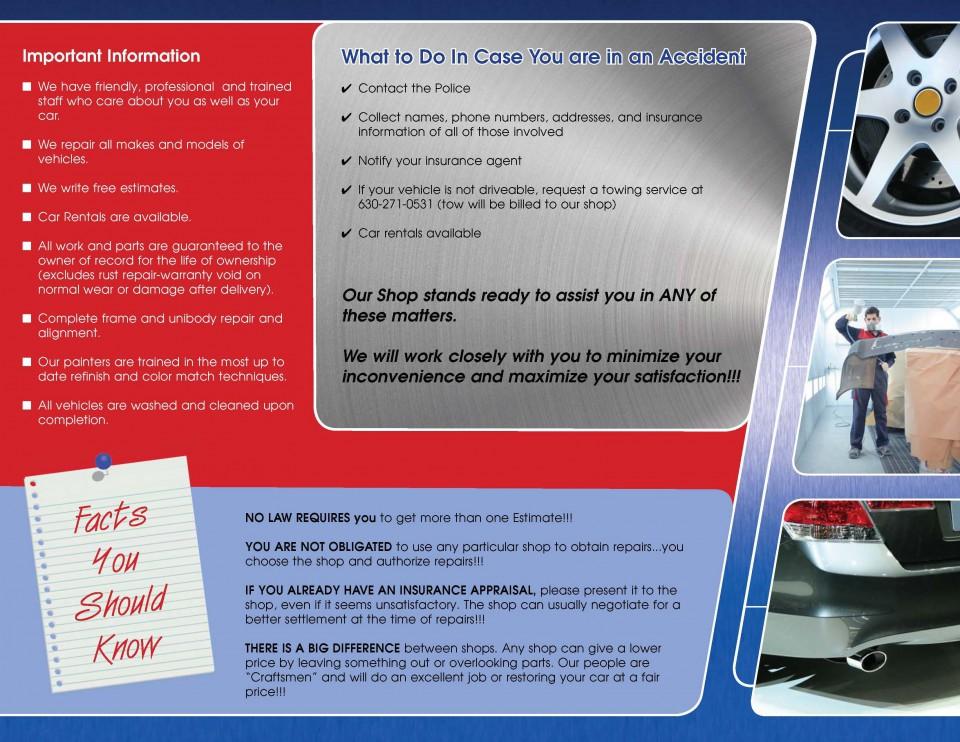Tri-Fold Brochure Printing - Back