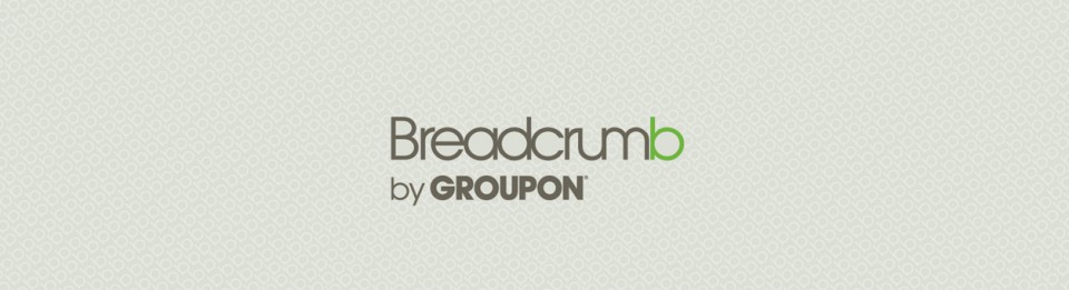 Groupon's breadcrumb custom table skirt