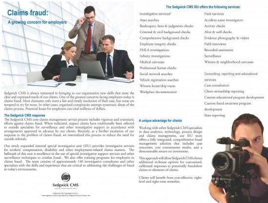 Sedgwick CMS Full Color Brochure Printing - Inside
