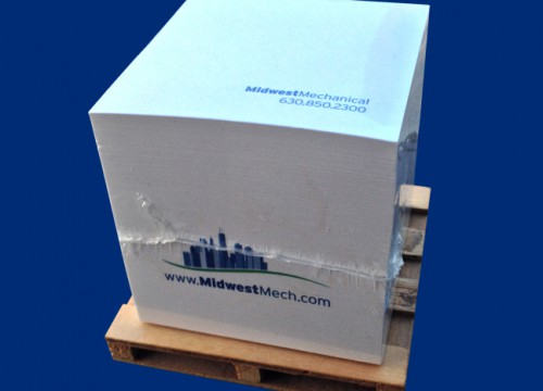 this is an example of Midwest Mechanical Services' 3M Post-It Note Cubes