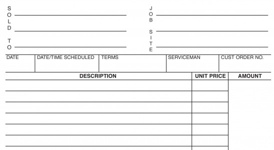 MBC Services' invoice form printing first page