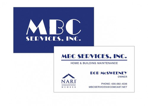 this is an example of MBC Services' thermography business cards