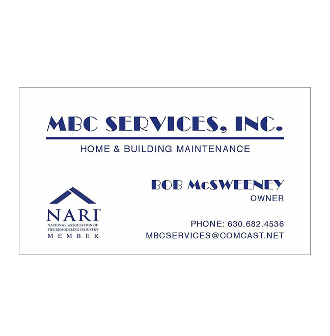 Mbc Services Inc Thermography Business Cards