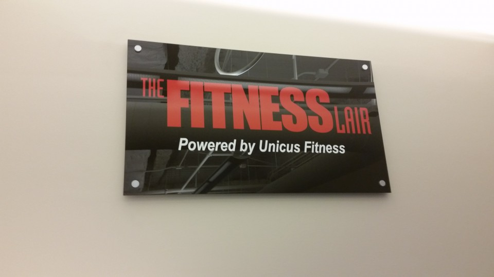 The Fitness Lair's acrylic signage