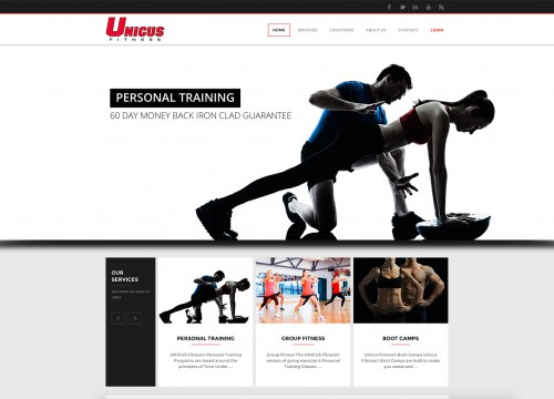 Image of Unicus website design homepage