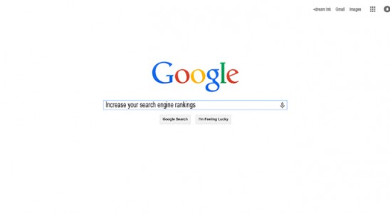 An image of the Google search bar with increase search engine rankings