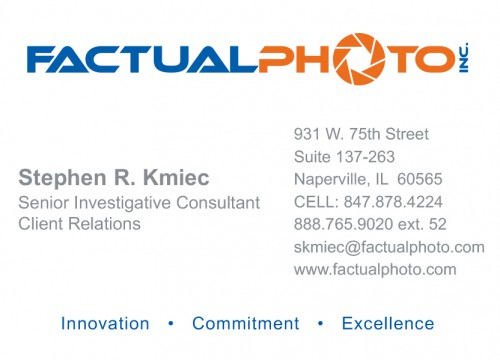 this is an example of Factual Photo's offset business card printing