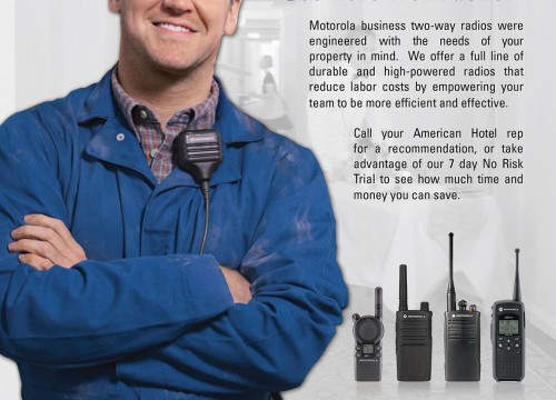 High-impact b2b print ad design with contractor crossing arms
