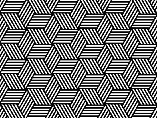 Black and white geometric pattern for graphic design services