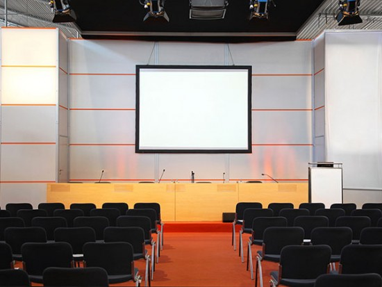 Presentation stage for trade show events