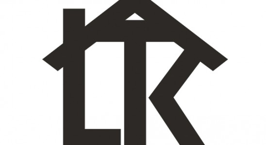 Realtor logo design with the letters L and K with a roof above
