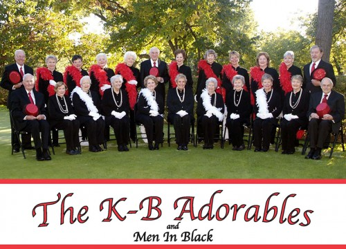 Color postcard printing with picture of well dressed seniors who form the KB Adorables