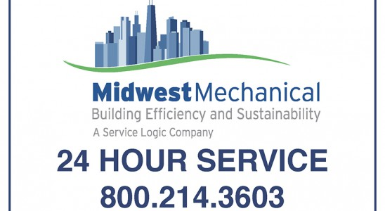 Weatherproof vinyl label printing that reads 24 Hour Service with phone number