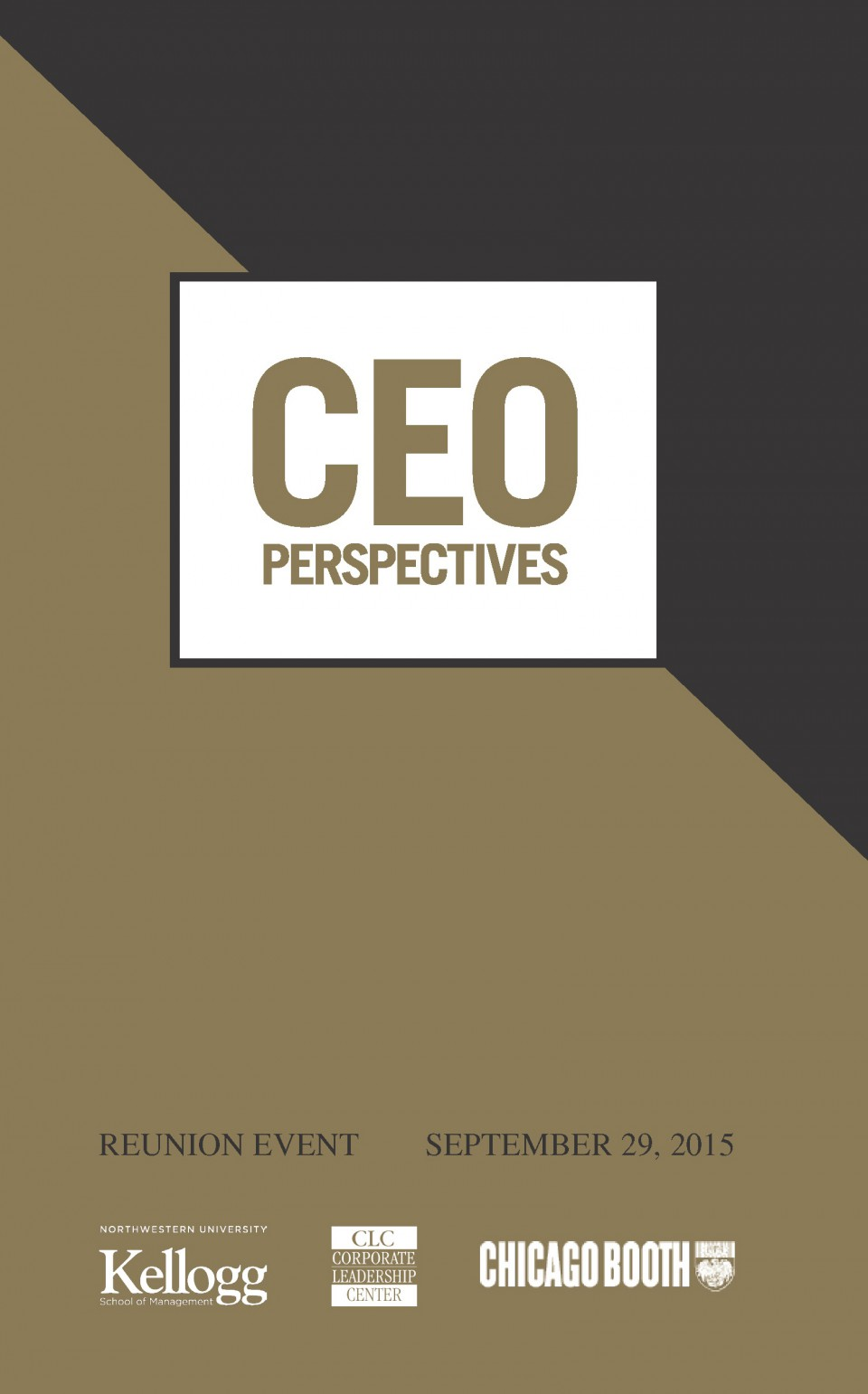 Cover image of ceo program design with gold and black