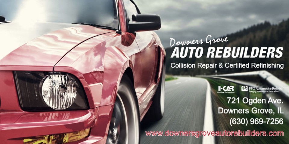 High-impact image of car on road for DG Auto banner design