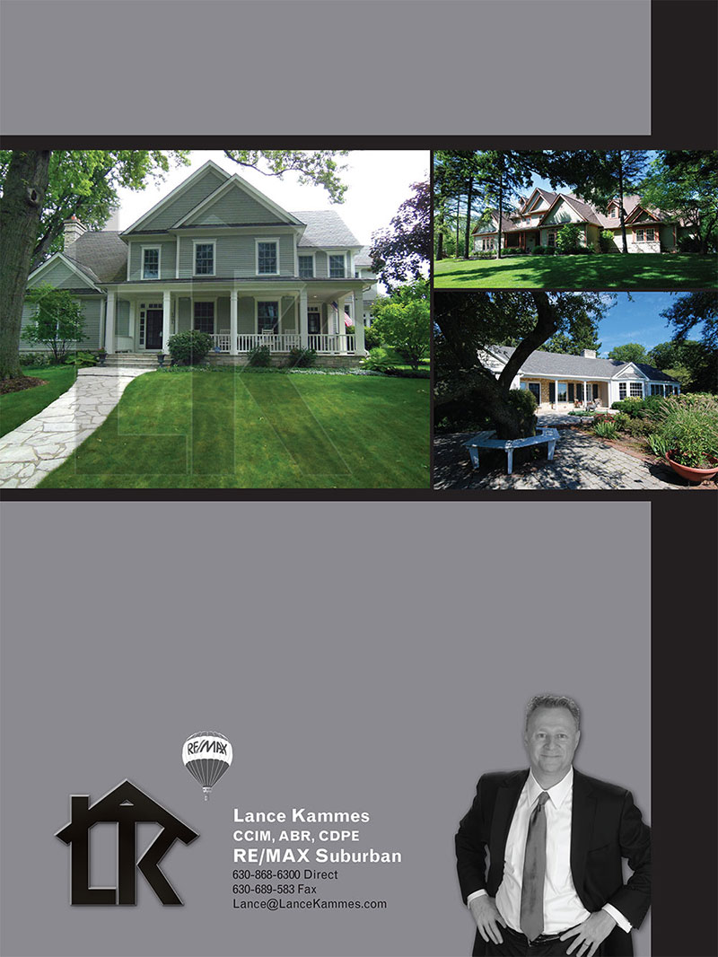 Booklet design for the Lance Kammes Real Estate company