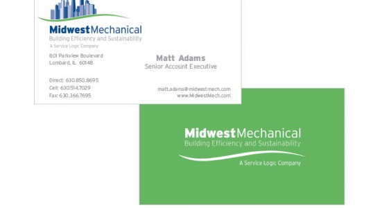 Two sided business card design print project for a client