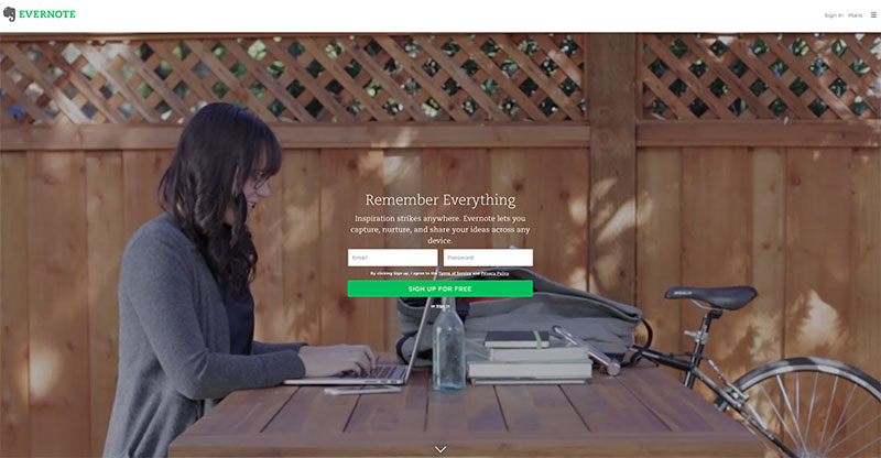 Web design lessons from Evernote's home page design